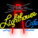 illustrated neon logo for The Lighthouse